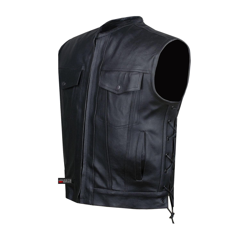 SOA Motorcycle Sons of Anarchy ARMOR Leder Open Collar Leder Biker Vest