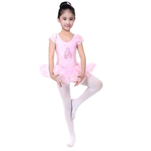 Toddler Girl Gauze Leotards Ballet Bodysuit Dancewear Tutu Dress Clothes Outfits