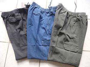 Das Bild wird geladen Jeans-Herrenjeans-Schlupfjeans-Ubergroesse-Gummibund -Neu-Schlupfhose-4XL- 79876f27ea