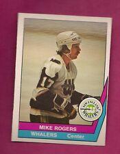 RARE 1977-78 OPC WHA # 17 WHALERS MIKE ROGERS NRMT-MT CARD  (INV# 9489)