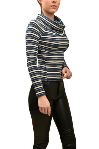 Womens Slim Blue Top Size Wide Striped Neck People Free Xs 8nOmy0wPvN
