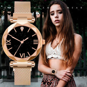Ladies-Watch-Starry-Sky-Wrist-Watch-Women-Bracelet-Watches-Magnetic-Stainless-UK