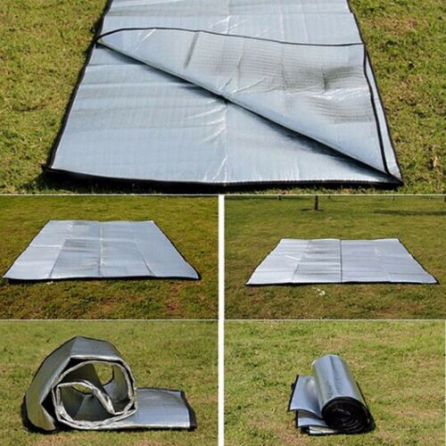 Waterproof Camping Mat  Aluminum Foil Folding Sleeping Picnic Beach Pad Outdoor