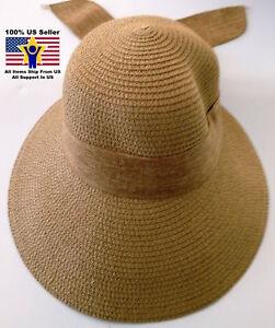 1d3c9d83865 Women s Beach Sun Brim Hat Straw Floppy Elegant Bohemia Packable ...