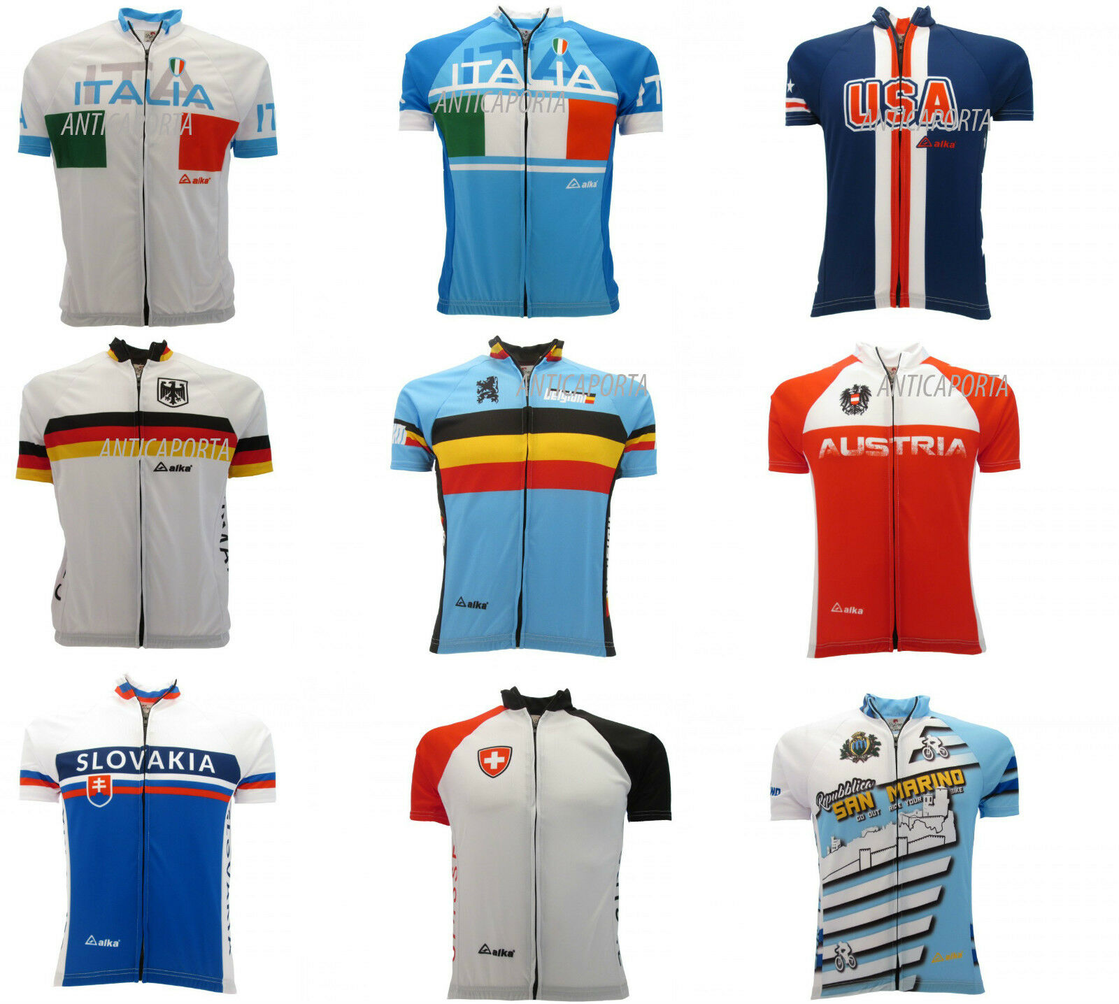 Maillot Skyline Projet Cyclisme National Italie Allemagne Autriche USA
