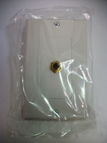 "Gold Plated Jack 1//4/"" Inch TRS Stereo Jack Decora Wall Plate With Cover"