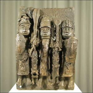 59597-Afrikanische-Bronzeplatte-Nigeria-Afrika-KUNST