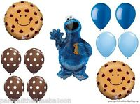 11 Pc Cookie Monster Chocolate Chip Party Balloons Sesame Street Free Shipping