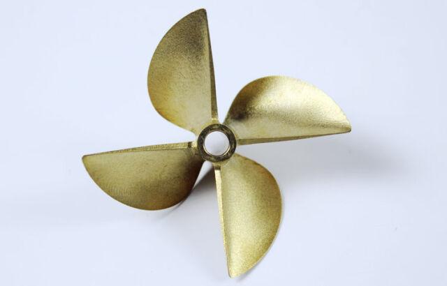 """RC Boat CNC Bronze Propeller 6717 4 Blades For 1/4"""" 6.35mm Propeller Shaft"""