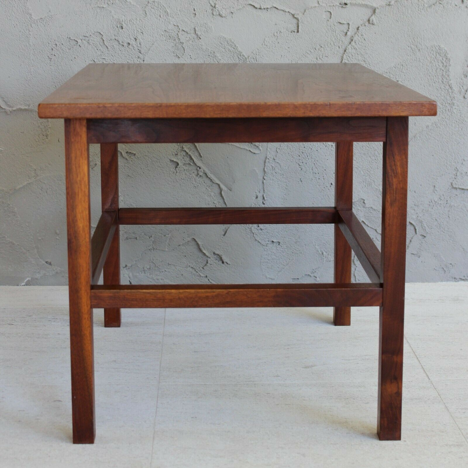 Image of: Gray Walnut Wood Mid Century Modern Desk Writing Laptop Computer V Leg Table Sto For Sale Online Ebay