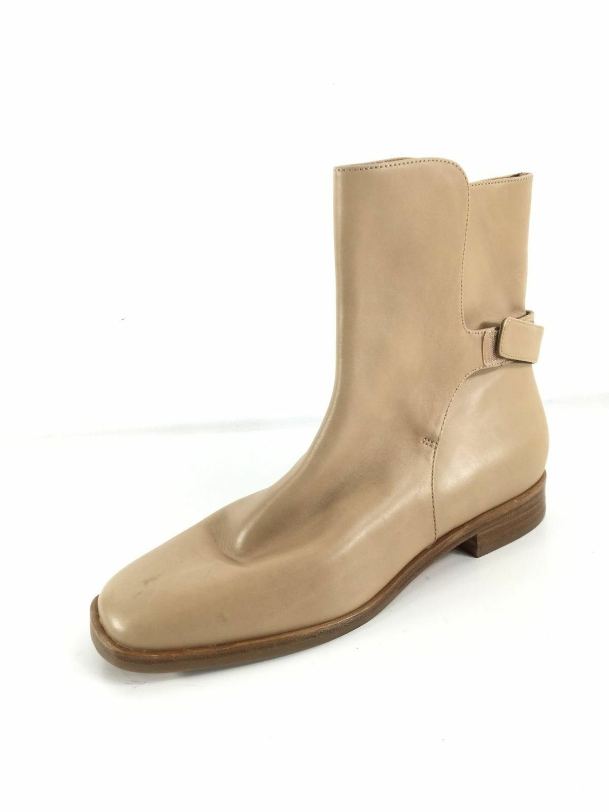 NEW VIA SPIGA VAUGHAN NUDE LEATHER ANKLE BOOTS WOMEN SIZE 6.5 M  498