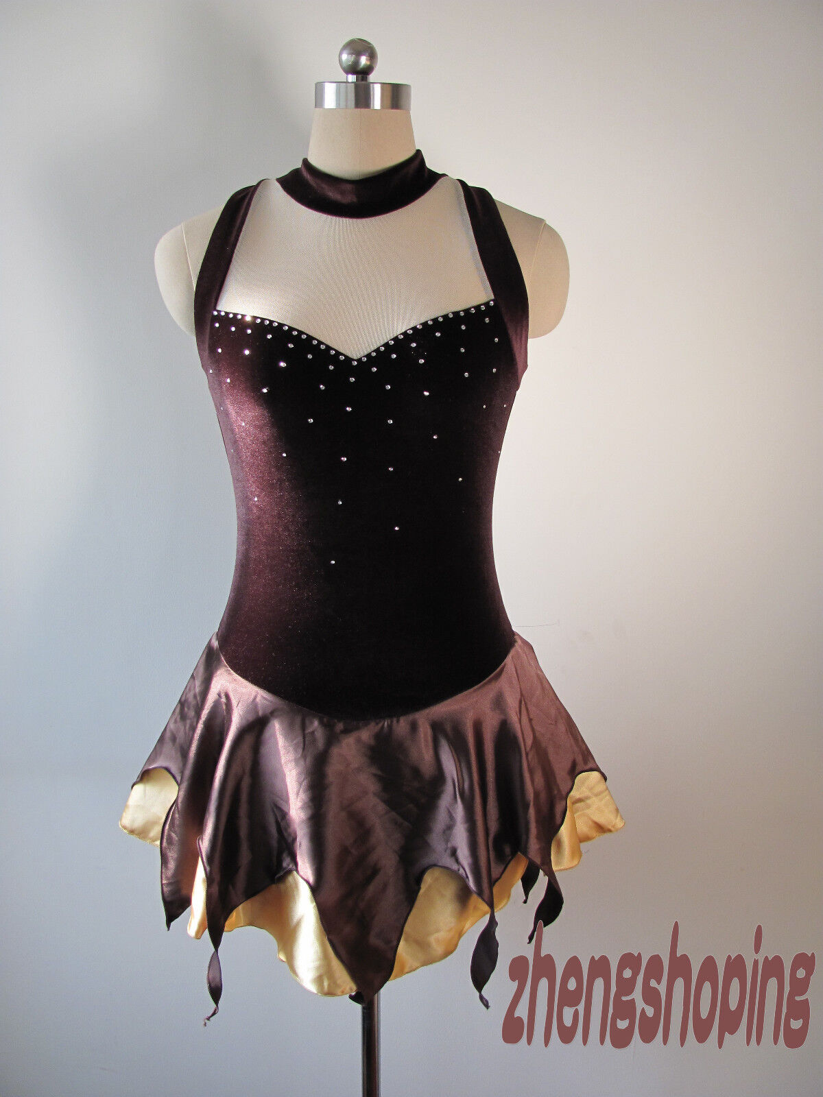 New Ice Skating Dress Competition  Twirling  Figure Costume 8013  100% price guarantee