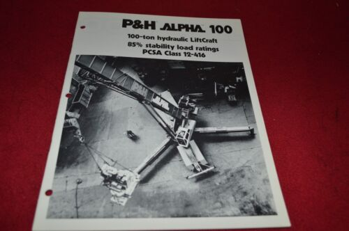 P&H Alpha 100 Crane Dealers Brochure DCPA2 ver2