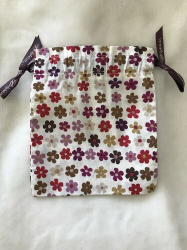 ✨BRIGHTON Fabric Cloth Pouch Jewelry gift Bags PURPLE FLOWERS