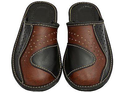 Herren Hausschuhe - Größe 40-46 - Echtleder - Latschen,Pantoffeln - MI06