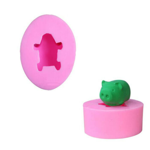 3D Pig Silicone Mold Cake Decorating Soap Candle Mold Handmade Crafts Tools