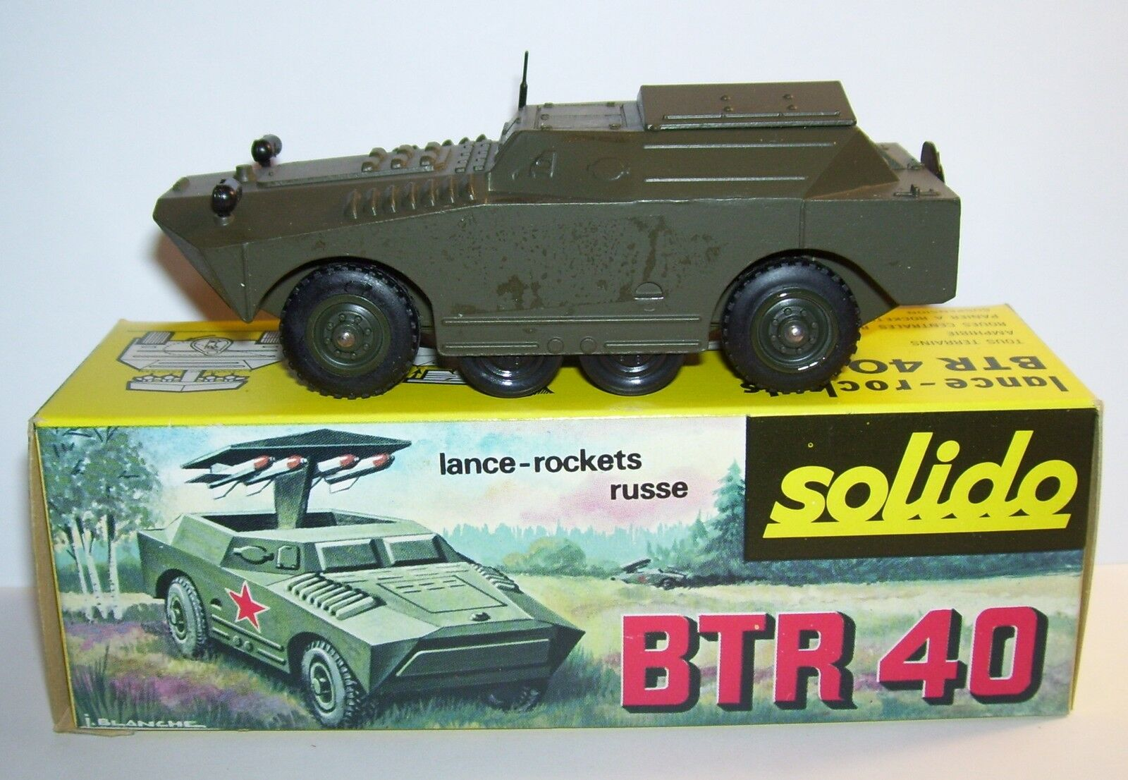 SOLIDO MILITARY CHAR TANK BTR 40 LANCE-ROCKETS LANCE-ROCKETS LANCE-ROCKETS RUSSE URSS REF 225 IN BOX e | Exquis Art