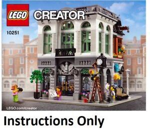 Details Sur Nouveau Instructions Only Lego Brique Banque 10251 Livre Manuel City Modular Set