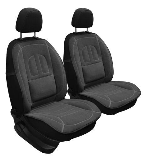 3D Velours Auto Sitzauflage Autositzmatte Sitzmatte Sitzbezüge graphit  2Stk
