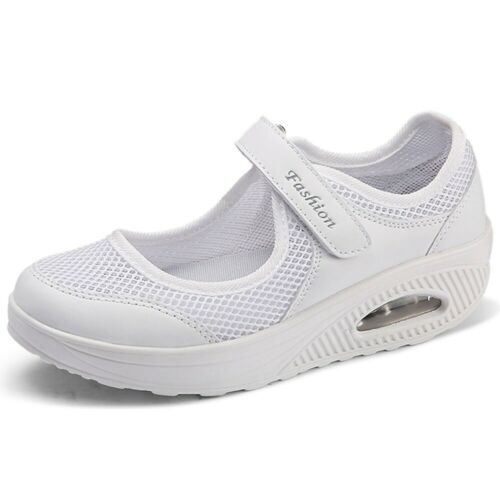 Women Running Sneakers Breathable Mesh Walking Slip-On Casual Air Cushion Shoes