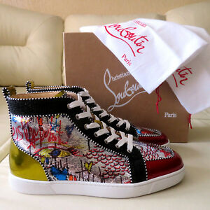 innovative design 73859 ef282 Details about CHRISTIAN LOUBOUTIN SNEAKERS RANTUS ORLATO HIGH TOP LOUBITAG  46.5 47.5