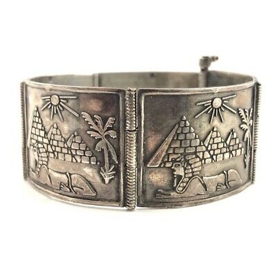 Sale Etruscan Revival Dainty Sterling Silver Cannetille Motifs Bracelet