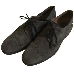 Pristine Banana Republic 10 1/2 M gray suede shoes.