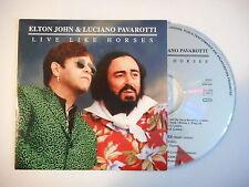 ELTON JOHN & LUCIANO PAVAROTTI : LIVE LIKE HORSES [ CD SINGLE PORT GRATUIT ]