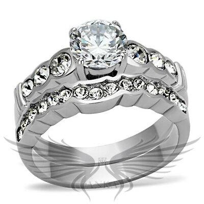 3ct ROUND PREMIUM RUSSIAN LAB CREATED SIM DIAMOND BRIDAL ANNIVERSARY RING GL097