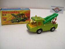 Matchbox Superfast 74, Toe Joe, grünmetallic, 1972, OVP