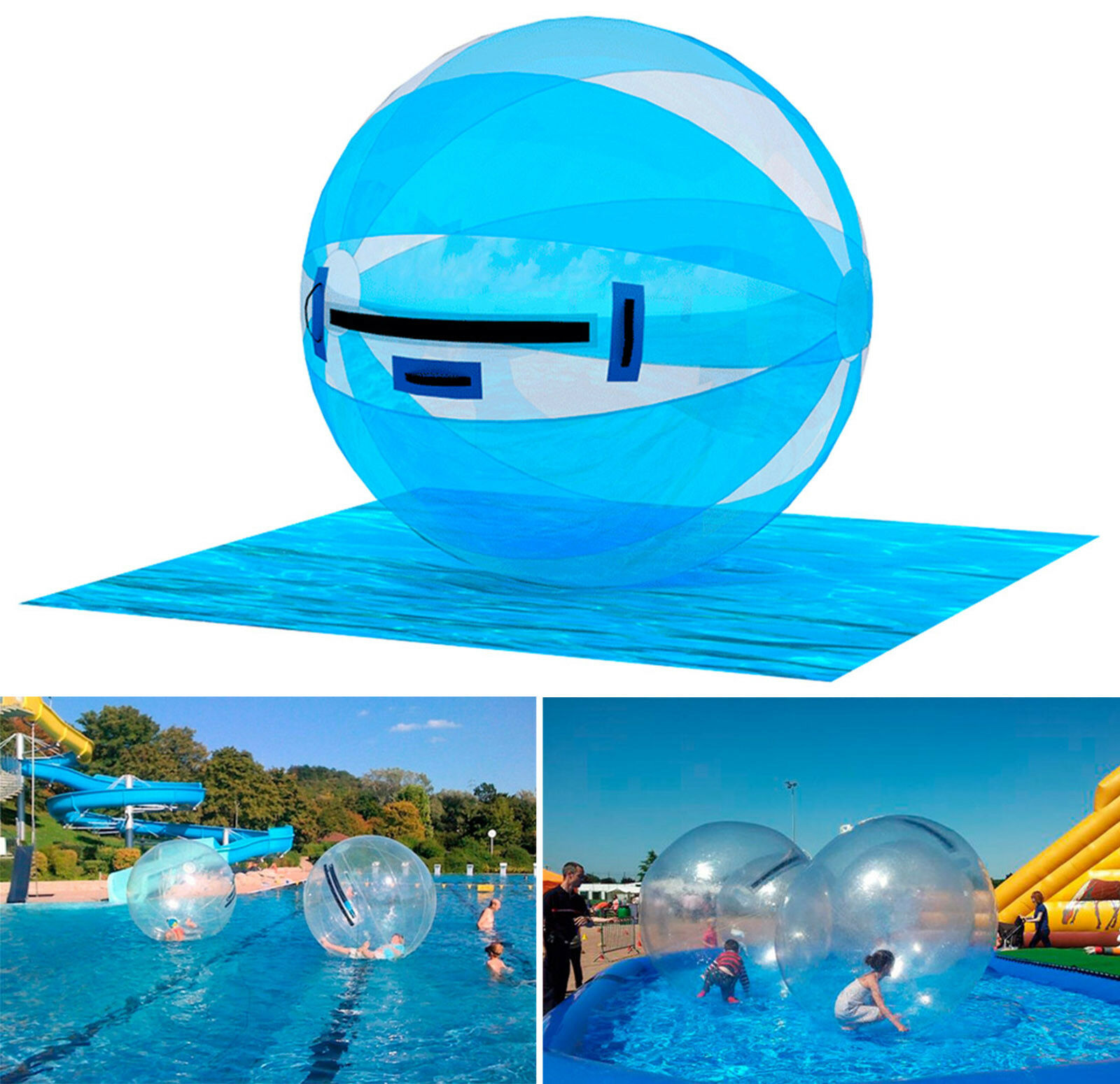 PREMIUM 2M Water Walking Roll Ball Inflatable Inflatable Inflatable Zorb ball Germany TIZIP Zipper 99d9f1