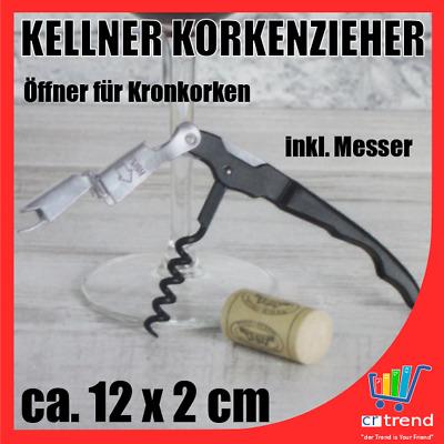 2 Kellnermesser Korkenzieher Kellnerbesteck Wein Flaschenöffner Bottle Opener ER