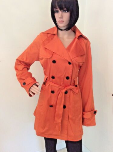 choose color NWT Giorgio Italia Women/'s double breasted belted Trench Coat