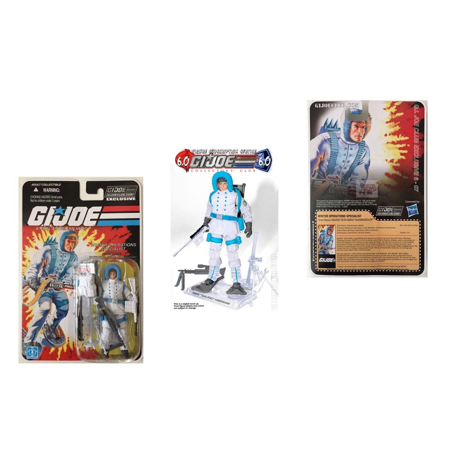SUB ZERO FSS 6.0 Hasbro GI JOE Club Subscription 3.75