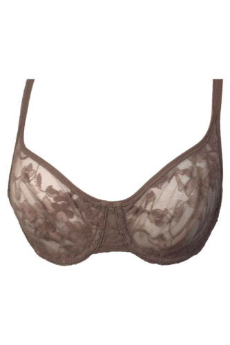 DKNY Signature Lace Sheer Underwire Demi Bra 45100 NWT