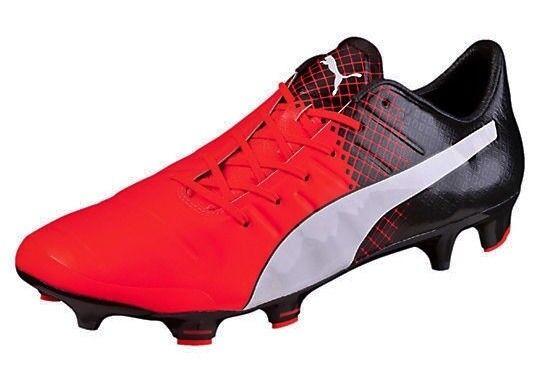 PUMA evoPower 1.3 Red Blast Black Whi FG Soccer Cleats Boots NEW Mens 9 9.5 10.5