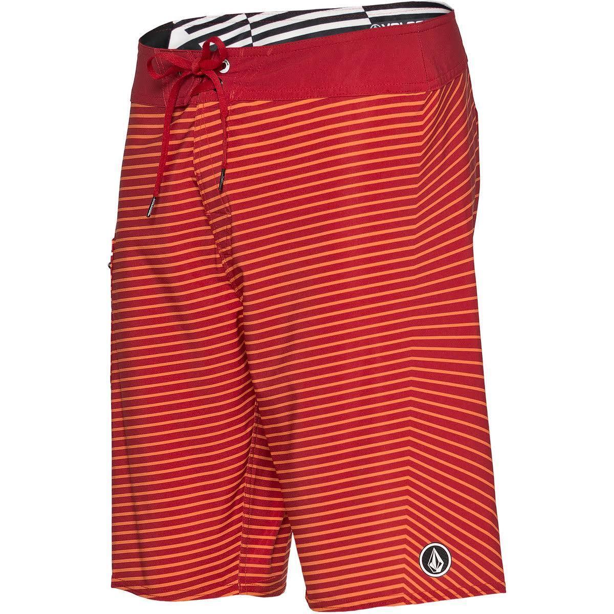 Volcom Lido greenigo Boardshort (32) Gocciolante red