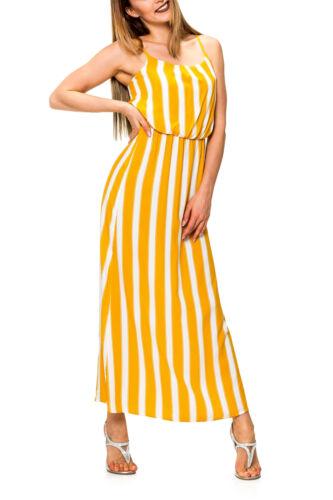 Only Femmes Robe D/'été Bretelles Robe Maxi Slip Dress avec Print Casual