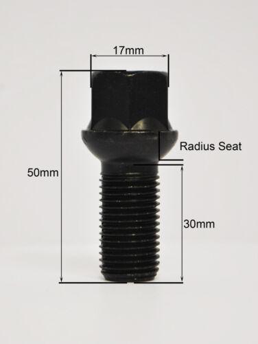 filetage 30mm Zinni 20 x oe style M14 x 1.5 rayon de roue boulons et casiers