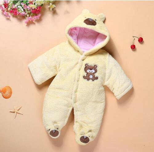newborn baby winter clothes fleece warm padded bodysuit outfits baby shower gift