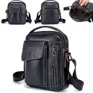 100/% Genuine Leather Men/'s Sling Shoulder Bag Messenger Bag Handbag Crossbody