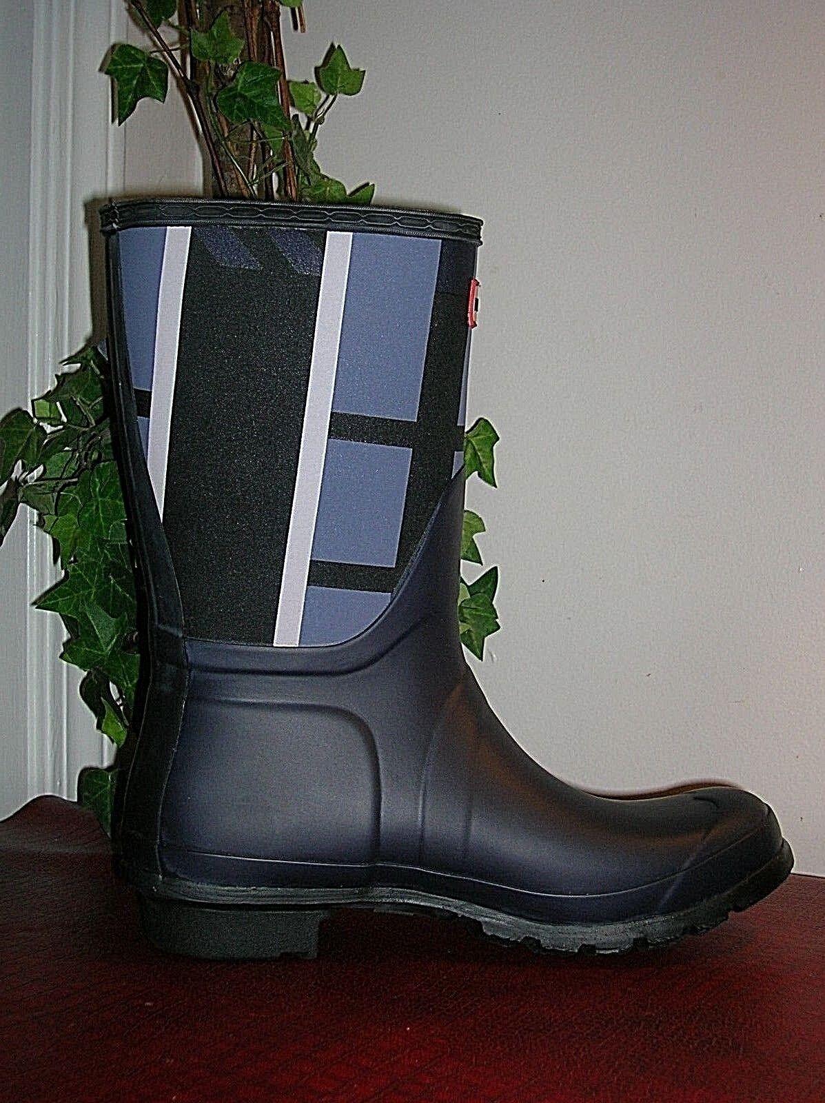 Hunter Hunter Hunter botas De Goma Azul Mineral doblado Corto botas para mujer Talla 7 de EE. UU. nuevo  Ahorre 60% de descuento y envío rápido a todo el mundo.
