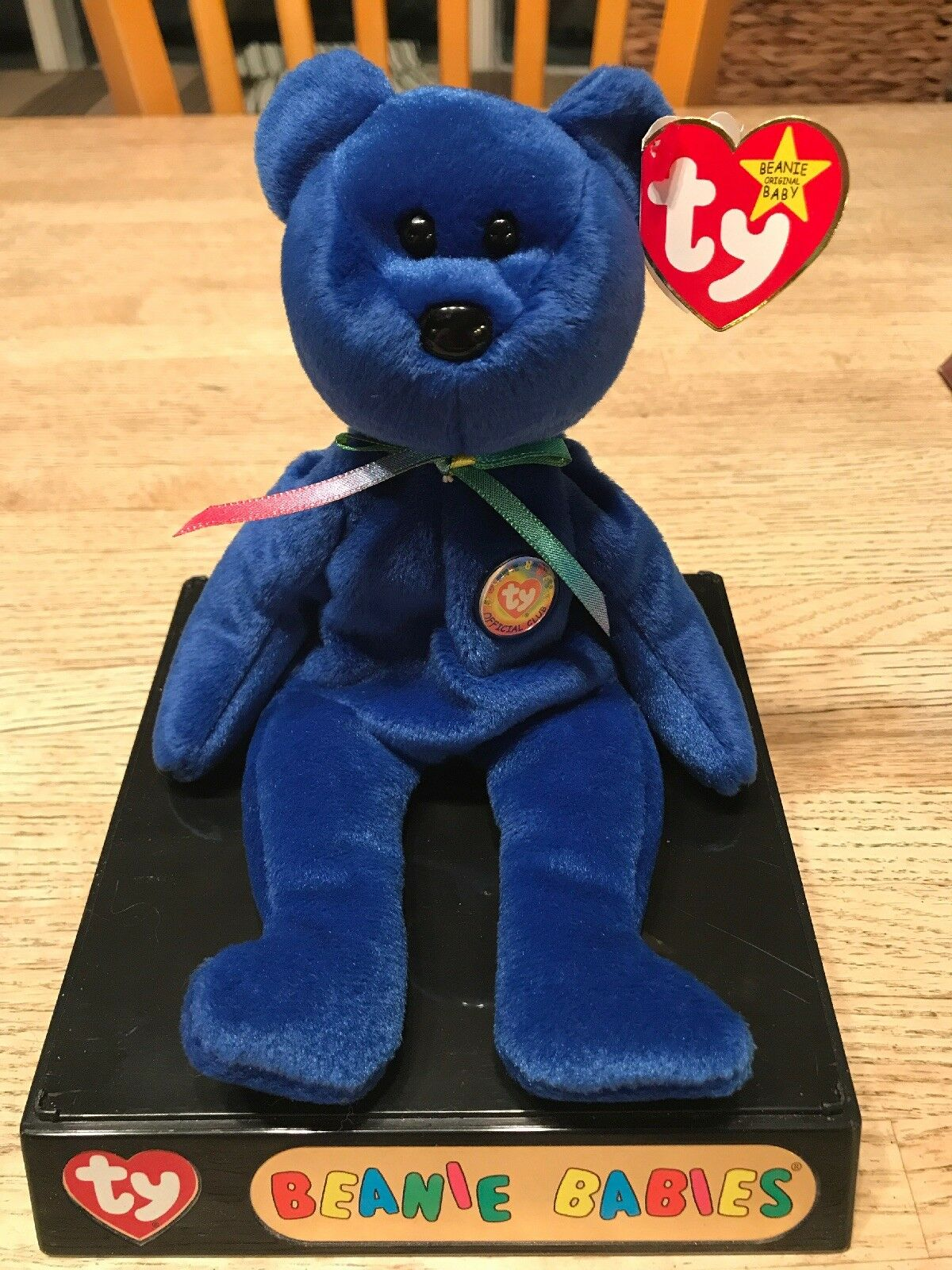 Clubby Beanie Baby. Never taken out of case and has button