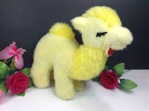 "Rare Vintage Skyline International Plush Yellow Camel 10"" Stuffed Animal Toy"