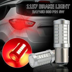 2x-Bombillas-1157-LED-Freno-Posicion-Canbus-380-BAY15D-P21W-5W-rojo-6000K