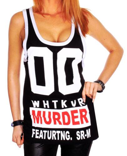ZAHIDA Damen Ärmellos Rip kurz Shirt T-Shirt Tank Top women Style Sommer t.6.10