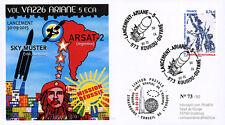 """VA226L FDC KOUROU """"ARIANE 5 Flight 226 SKY MUSTER & ARSAT-2 / Che Guevara"""" 2015"""