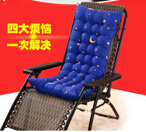 L//P Deck Chair Cushion Thick Outdoor Patio Backyard Garden Lounge Seat Padding