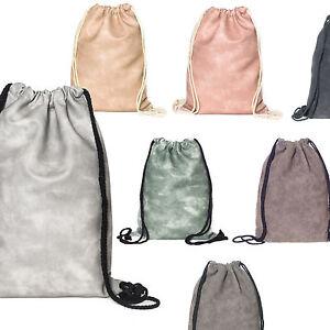 turnbeutel gym bag hipster rucksack sport beutel leder optik trendige tasche neu ebay. Black Bedroom Furniture Sets. Home Design Ideas