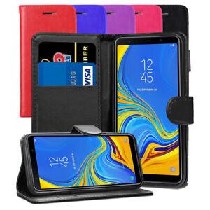 Pour-Samsung-Galaxy-A7-2018-SM-A750FN-DS-Premium-Portefeuille-En-Cuir-Flip-Case-Cover